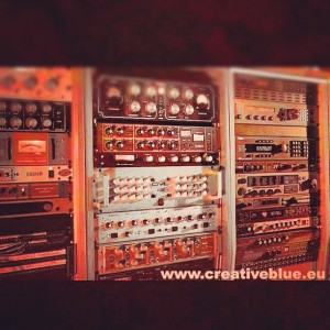 some gear at creativeblue studios